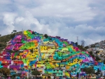 colorful hillside neighborhood