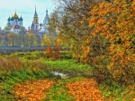 beautiful churches in bucolic russia hdr
