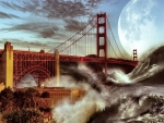 Golden Gate Bridge Storm f