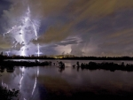 lightning on a lake