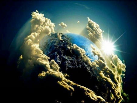 The splendor of earth - earth, space, clouds, planet