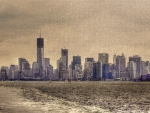 manhattan from new york bay hdr