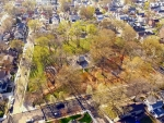 drone flight over historic westerleigh, staten island