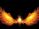 Flaming Angel Wings