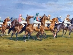 Start of the Horse Race f