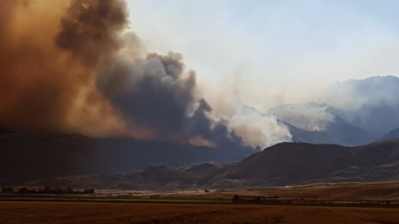 Whit Creek Fire Cody, Wyoming 2016 - Grasslands, Wildfires, Sky, Smoke