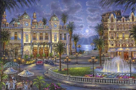 Casino de Monte Carlo - love four seasons, attractions in dreams, tourists, hotels, restaurants, paradise, Monte Carlo, architecture, places, Casino, travels, paintings, entertainment