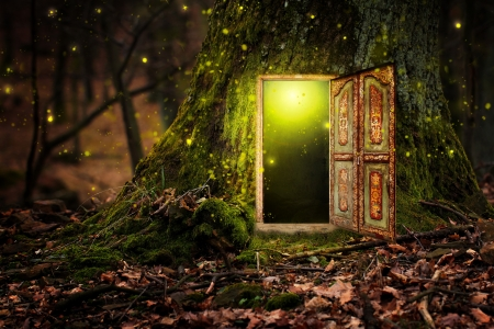 Fairytale door - beautiful art door enchanted night fairytale woods & Fairytale door - Other \u0026 Abstract Background Wallpapers on Desktop ... Pezcame.Com