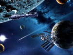 space stations near planets