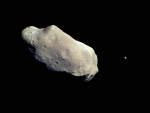 An Asteroid and a Moon