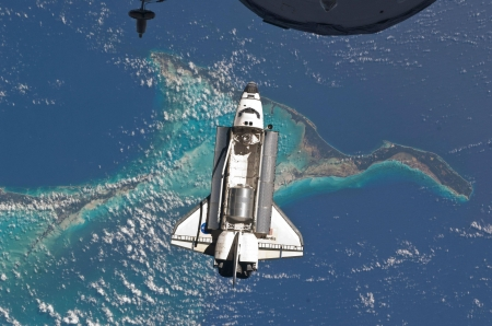 above the shuttle - earth, space, cool, shuttle, fun