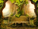 Sofa in the forest