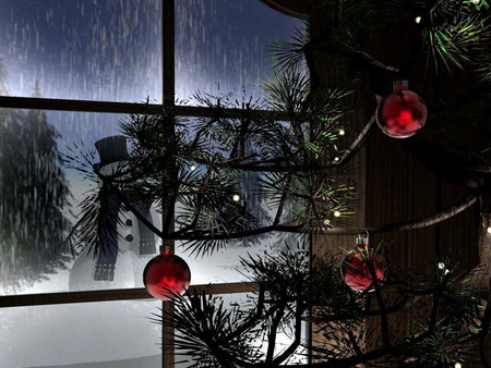 Christmas Night - feast, holidays, merry christmas, xmas, christmas, cold, x-mas, love, winter, snowman