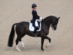 Charlotte Dujardin on Valegro in the team dressage event Rio Olympics 2016