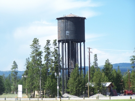 1910 Water Tower, West Yellowstone, Montana  - National Parks, Educational, Historical, Mountains, Tourism, Scenic, Walking