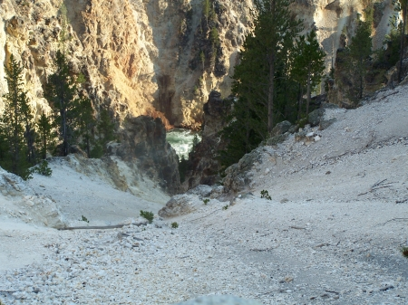 Downward Spiral, Grand Canyon of West Yellowstone - Scenic, Mountains, Canyons, National Parks, Rivers