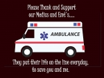 Gratitude for Paramedics and EMTS