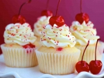 Cupcakes With Cherries On Top