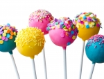 Lollipops Dipped in Sprinkles