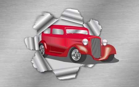 Auto Bursting Thru - Popular Cars, Hot Rods, Classic Cars, Red Cars, Nice Wheels