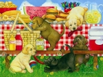 Puppies Picinic