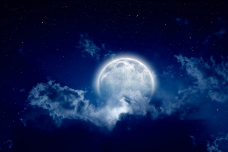 Moon - moon, sky, cloud, night