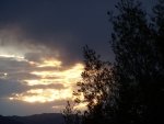 Sunset from front porch, Teton Valley, Idaho