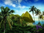 The Pitons, St. Lucia Island, Caribbean