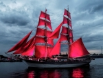 Red Sails After Sunset