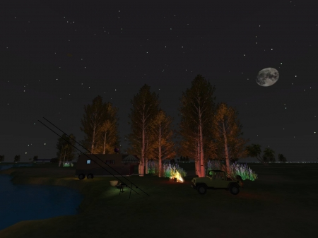 Virtual Fishing - Fishing, lake, Secondlife, Virtual