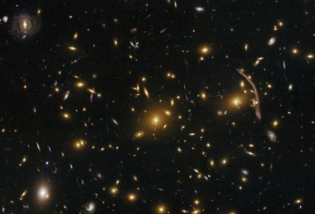 Abell 370 Galaxy Cluster Gravitational Lens - cool, galaxies, space, stars, fun