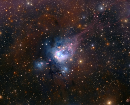 Young Suns of NGC 7129 - space, cool, stars, galaxies, fun