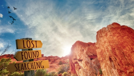 Lost and Found Sign in the Outback - Sun, Rocks, Nature, Australia, Signs, Deserts, Birds