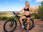 Blanca Brooke and her Bicycle