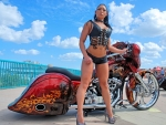 Hot Gal & Custom Bike
