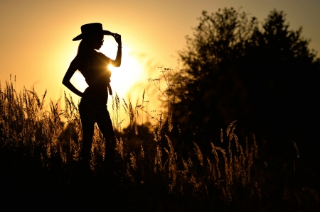cowgirl silhouett wallpaper - photo #28