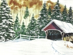 Winter Covered Bridge f