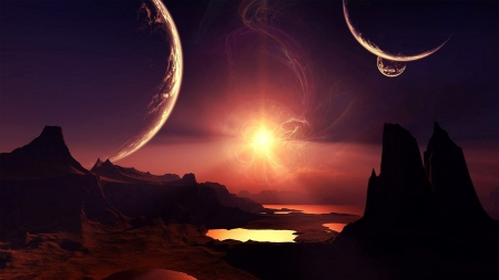 Space Haven - space, 3d, render, worlds, planets, sun, cg