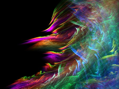 Fractal Fire - colorful, fire, tide, fractal