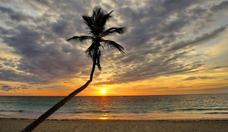 Sunset in dominican republic beaches nature background wallpapers on desktop nexus image - Wallpaper dominican republic ...