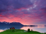 Sunset at Harstad, Norway
