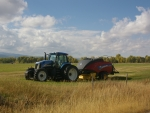 New Holland baling hay Teton, Valley, Idaho