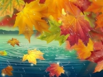 Autumn Raining Leaves
