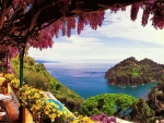 View from Amalfi Coast in Italy
