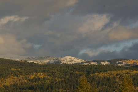 Fresh Snow in September on the Tetons, Victor, Idaho - Landscape, Autumn, Sky, Picturesque, Fall, Scenic