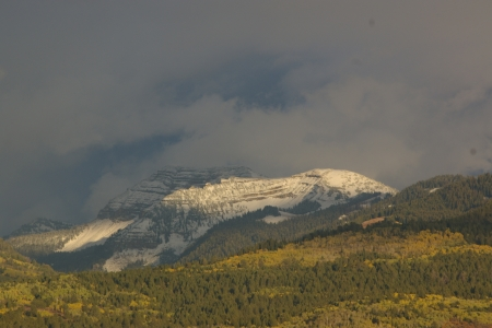 Taylor Mountain in September, Victor, Idaho - Autumn, Snow, Picturesque, Fall, Scenic
