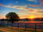 Texas Hill Country Sunrise in Autumn