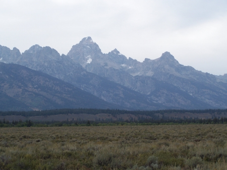Teton Mountain Range, Jackson Hole, Wyoming Airport - Picturesque, Airports, Mountains, Scenic
