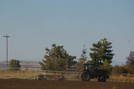 Fall Plowing, Teton Valley, Idaho - Tractors, Fields, Farms, Farm Implement Equipment