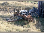old farm implement